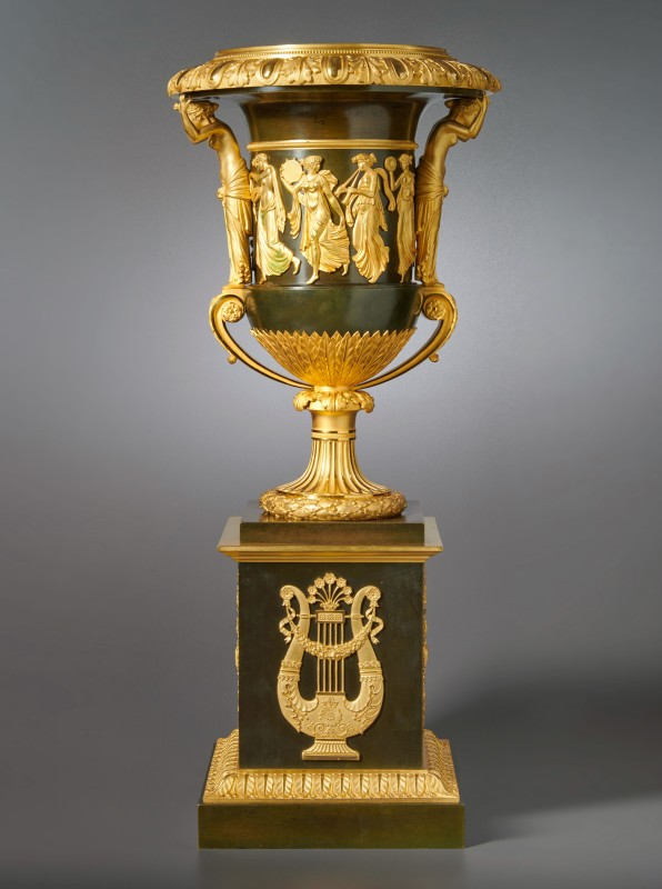 An Empire vase attributed to Pierre-Philippe Thomire of campagna form, Paris, date circa 1810