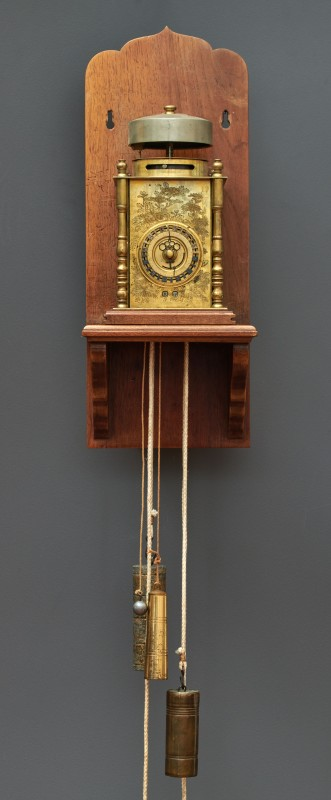 A Japanese hour striking weight-driven Yagura-dokei lantern bracket clock, Japan, date circa 1830