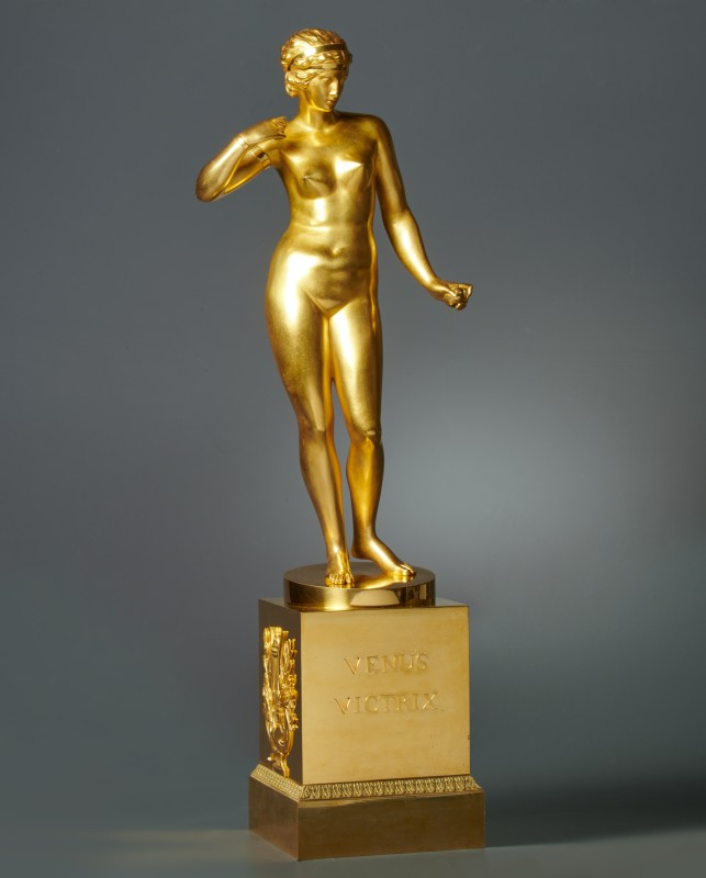 An Empire gilt bronze statuette of Venus Victrix, Paris, date circa 1810