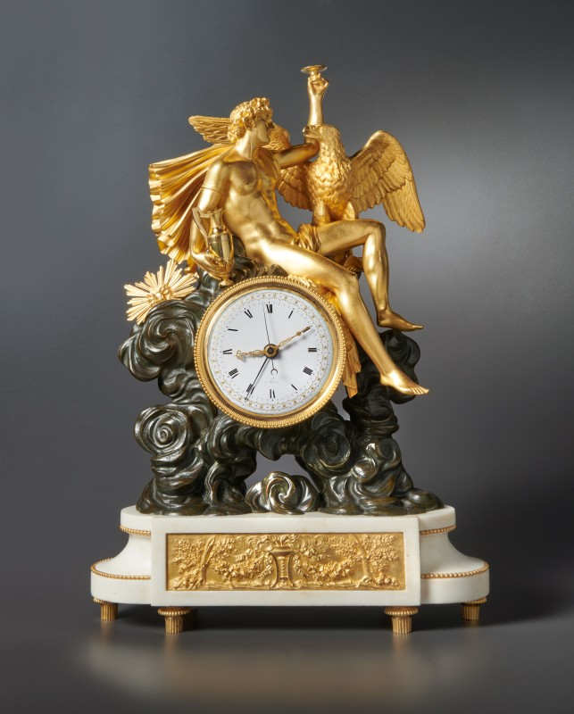 A Directoire mantel clock of fourteen day duration, the case by Jean-Simon Deverberie, the dial by Henri-François Dubuisson, Paris, date circa 1800