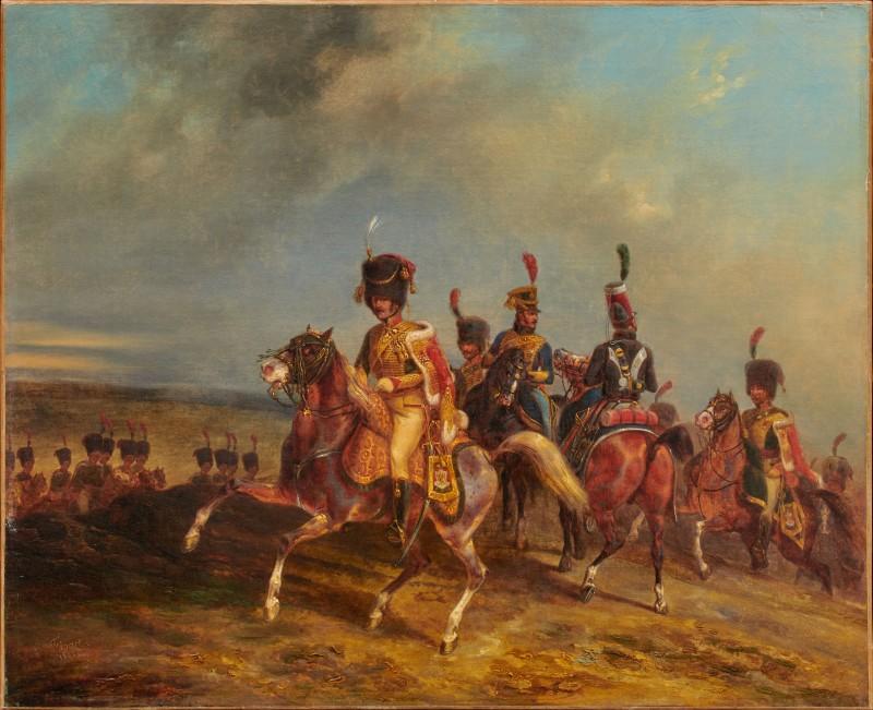 """""""Prince Eugène de Beauharnais at the Battle of Borodino"""" by Noël-Dieudonné Finart , Dated 1832"""