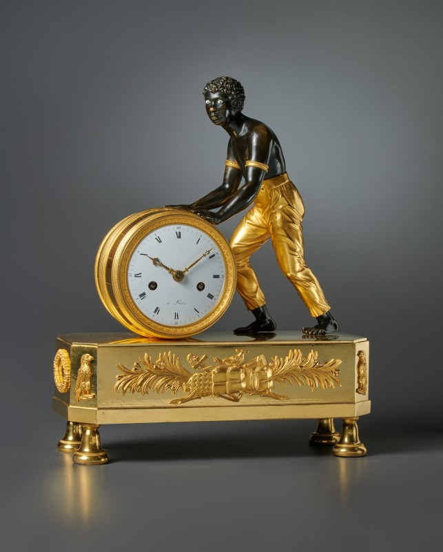 "An Empire Pendule ""Au Nègre"" , Paris, date circa 1800-05"