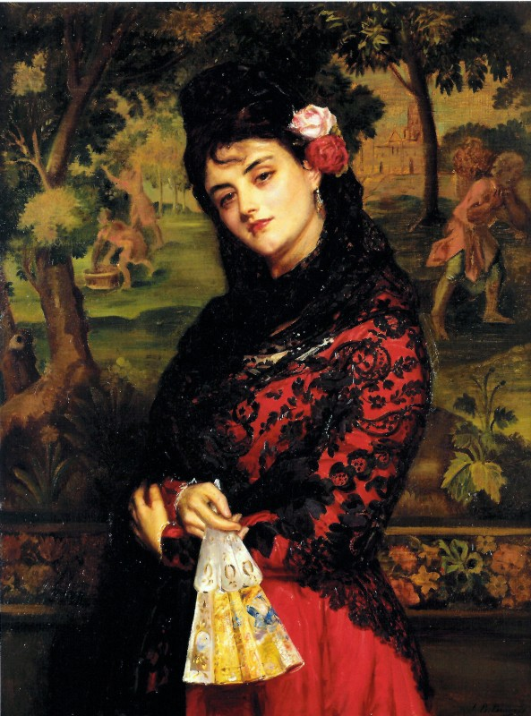 """La Senorita"" by John Bangold Burgess, London, 1876"