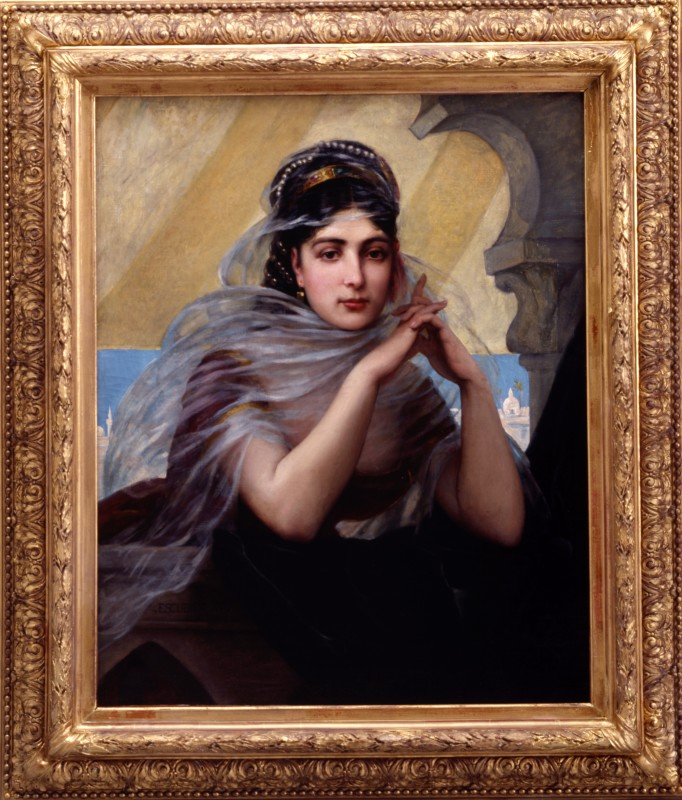 """Harem Beauty"" by Charles Jean Auguste Escudier, 1873"
