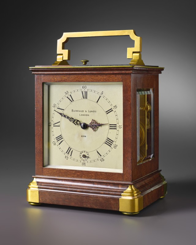 A 19th century miniature travelling timepiece by Barraud & Lunds, London, date circa 1840