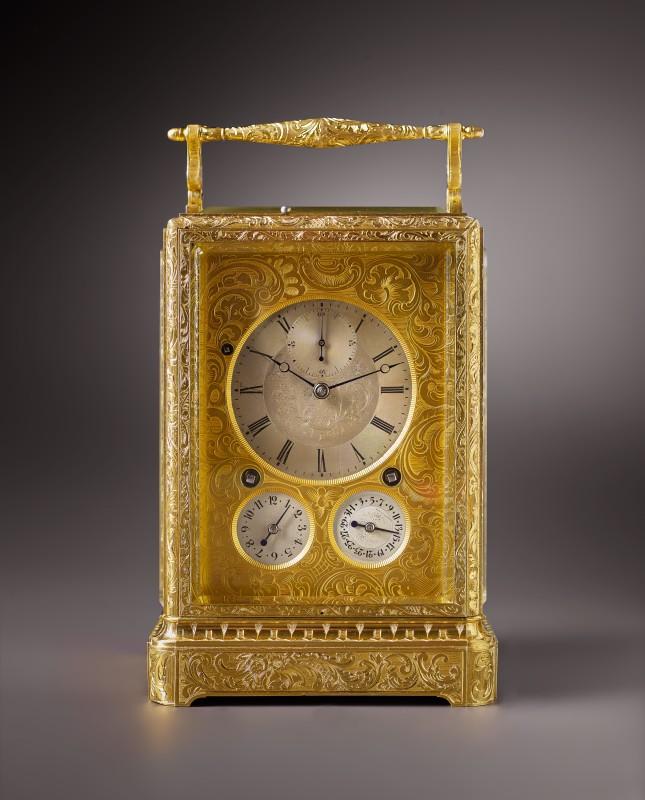 A grande sonnerie carriage clock by Charles Frédéric Klentschi, La Chaux-de-Fonds, date circa 1843