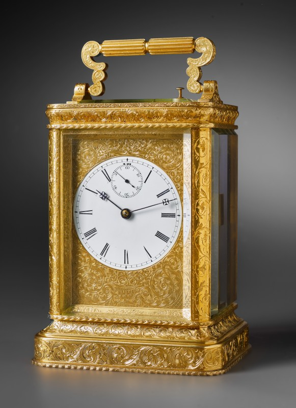 A striking carriage clock attributed to John Barwise, London, date circa 1840