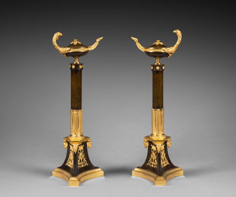 A pair of Empire candelabra attributed to Claude Galle, Paris, date circa 1805-1810