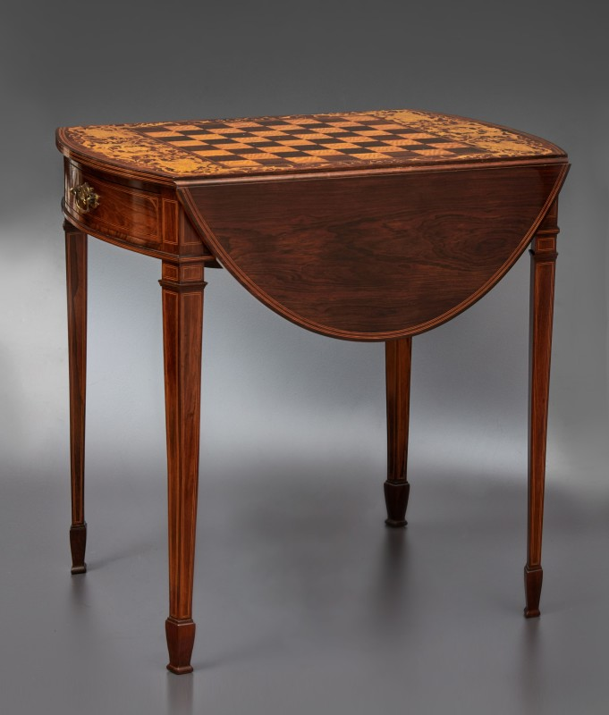 A 19th Century inlaid chess table by Collinson & Lock, London, date circa 1890
