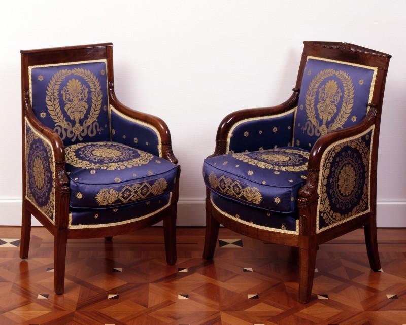 A pair of Empire fauteuils, Paris, date circa 1820