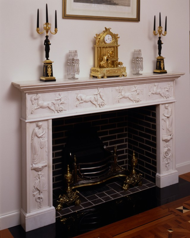 A Regency marble fireplace made for the Irish market, Italy, date circa 1810