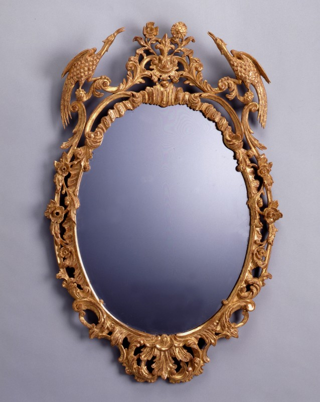 A Chippendale mirror with original glass, London, date circa 1780