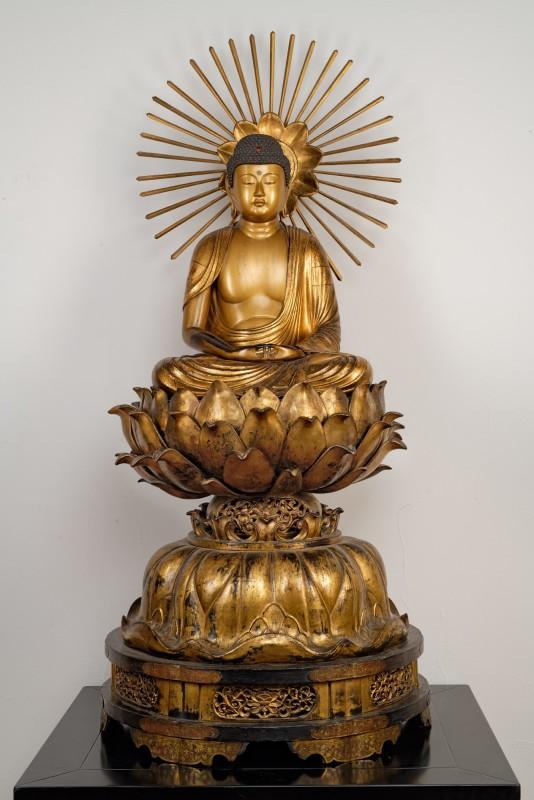 A Japanese Edo period sculpture of Amida Buddha, Japan, early nineteenth century