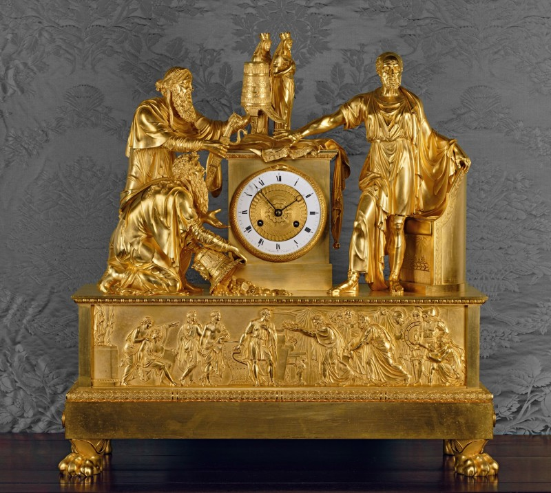 An Empire mantel clock of eight day duration by Chatourel, Paris, date circa 1810