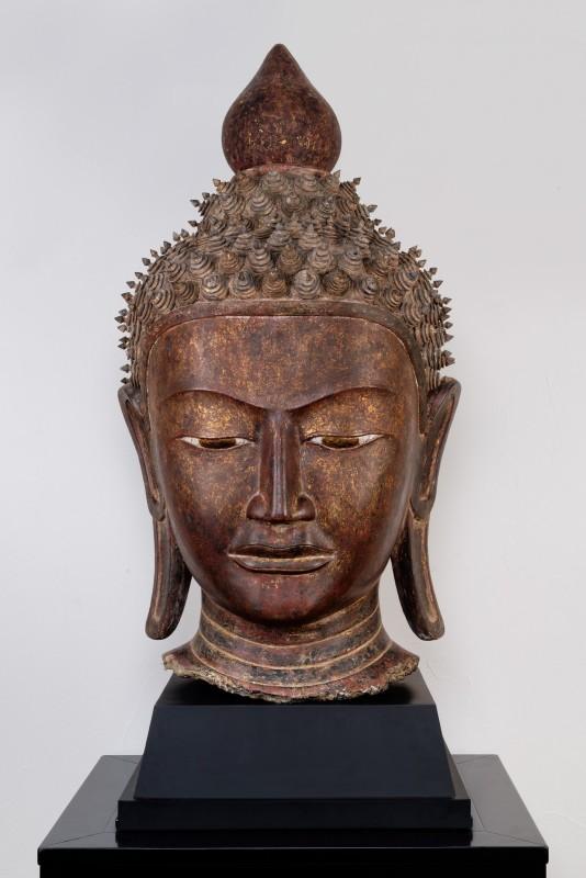 A Buddha head, Burma