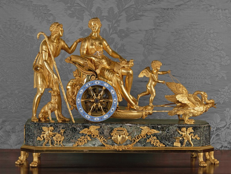 An Empire chariot clock of eight day duration by Basile-Charles Le Roy, Paris, date circa 1807-10