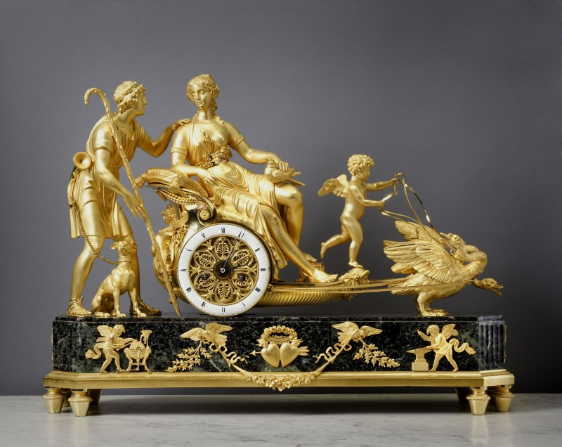An Empire chariot clock attributed to André-Antoine Ravrio , Paris, date circa 1810