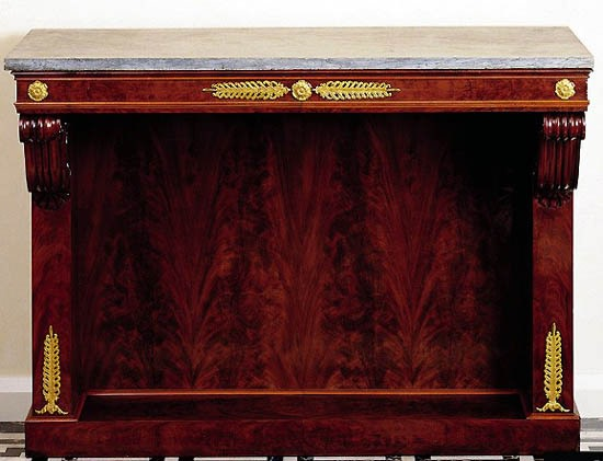 An Empire gilt console by Jacob-Desmalter et Cie. , Paris, date circa 1820-25