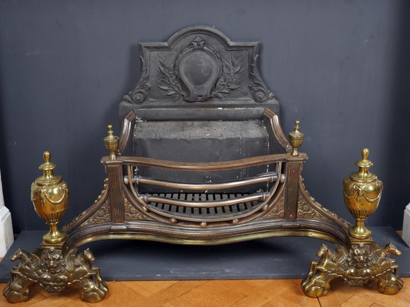 A mid 19th Century firegrate, English, date circa 1860-80