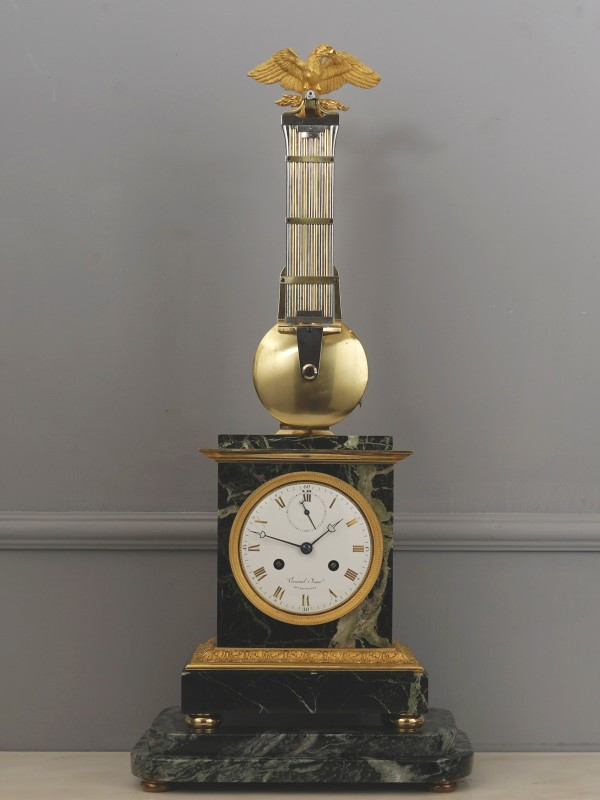 "An Empire pendule ""A L' Aigle"", by Verneuil Jeune, Paris, dated 1808"
