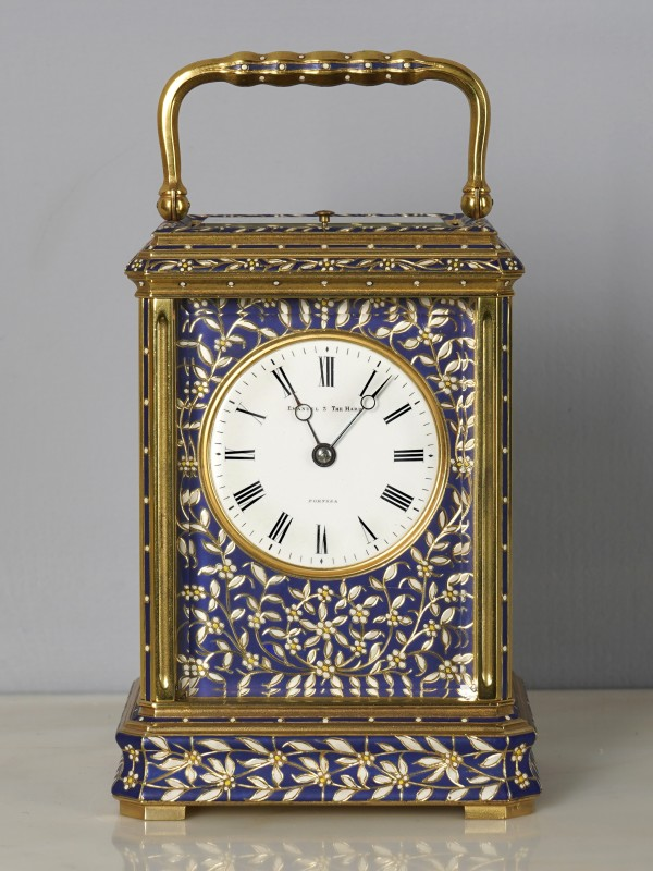 A late 19th Century carriage clock retailed by Emanuel 3 The Hard Portsea, Paris, date circa 1890