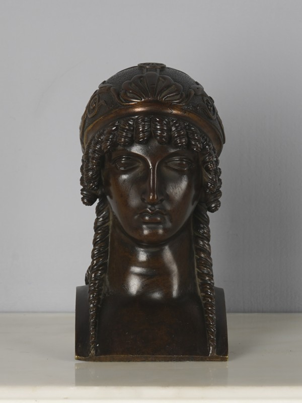 An Empire head of a woman, attributed to Pierre-Philippe Thomire, Paris, date circa 1810