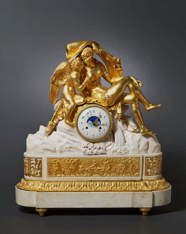 Josep Coteau or Etienne Gobin (attributed to), A large Louis XVI mantel clock, attributed to Joseph Coteau or Etienne Gobin (known as Dubuisson), Paris, date circa 1790