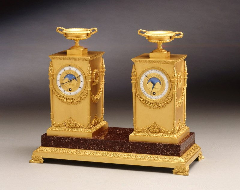 An Empire astronomical Bureau clock by Lesieur, Paris, date circa 1810