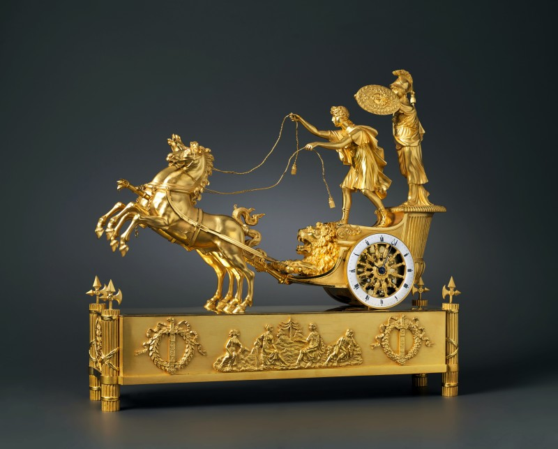 Jean-André Reiche (attributed to), An Empire chariot clock, attributed to Jean-André Reiche, Paris, date circa 1805-10