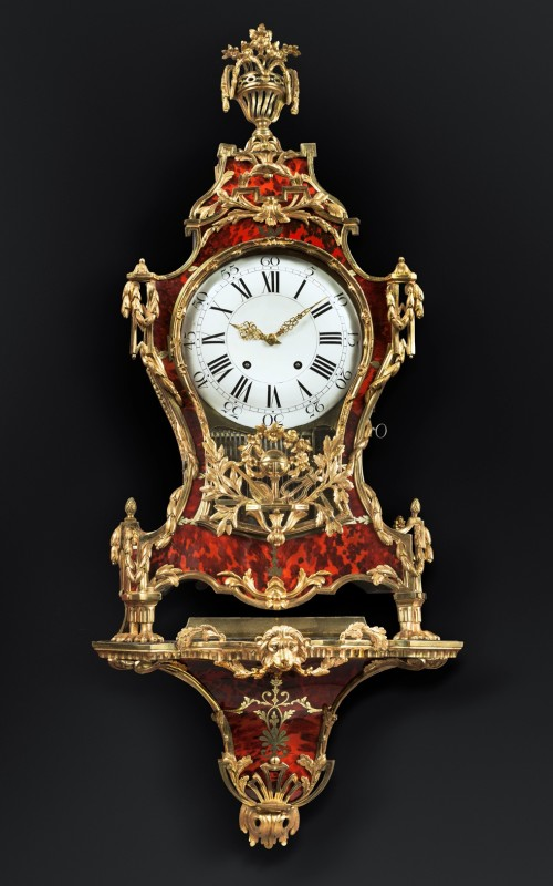 Denis-Frédéric Dubois , A Louis XV musical grand cartel clock with bracket by Denis-Fréderic Dubois, Paris, date circa 1765-70
