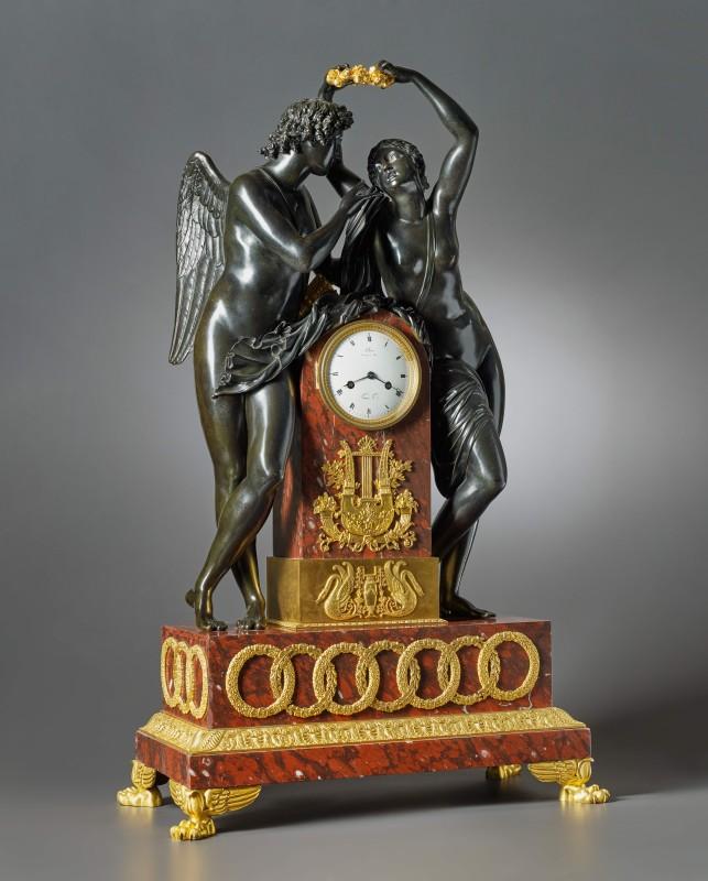 An Empire figural clock by Claude Hémon, Paris, date circa 1815-20