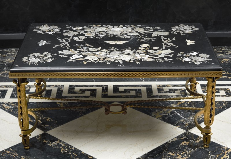 A German late seventeenth century table top by Franz de Hamilton, base French, Germany, date 1680-1700, base date circa 1940-50 circa 1680-1700. The base: France, date circa 1940-50