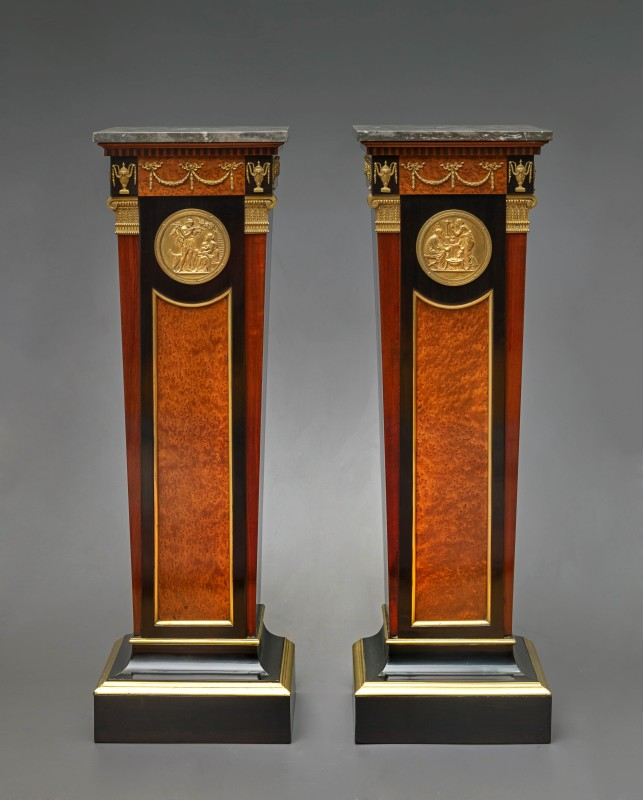 A pair of Louis XVI styled columns, , Paris date circa 1860