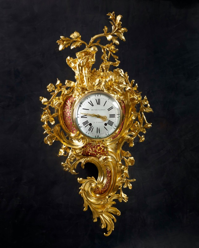 A Louis XV grand cartel clock by Henri Voisin, case attributed to Jean-Joseph de Saint-Germain, Paris, date circa 1755