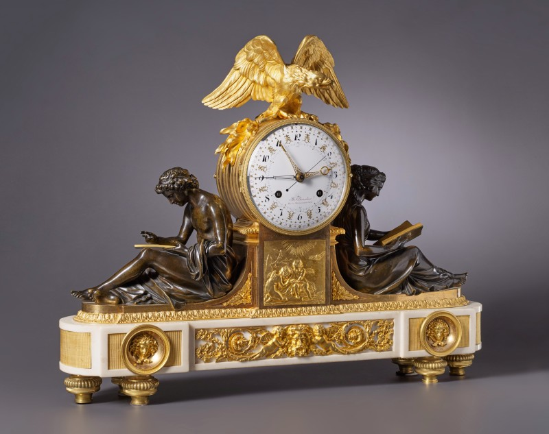 Jean-Simon Bourdier , A Louis XVI figural clock by Jean-Simon Bourdier, Paris, date circa 1790