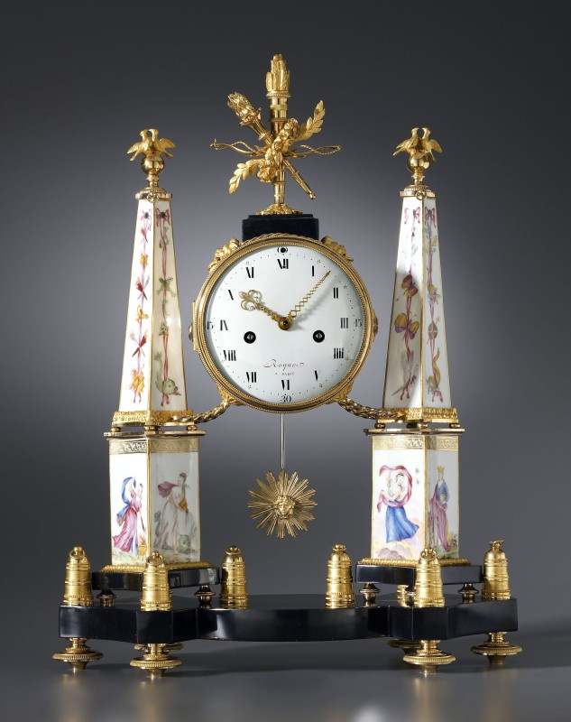 A Louis XVI mantel clock by Jean Léonard Roque, Paris, date circa 1775-80