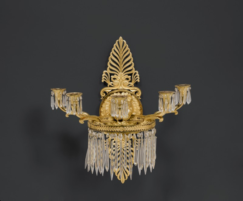 A pair of Empire five-light wall-lights attributed to Pierre-Philippe Thomire, Paris, date circa 1810-20