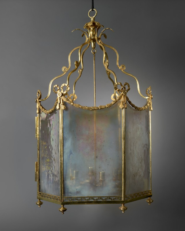 A highly important Louis XVI six-light lantern, Paris, date circa 1784