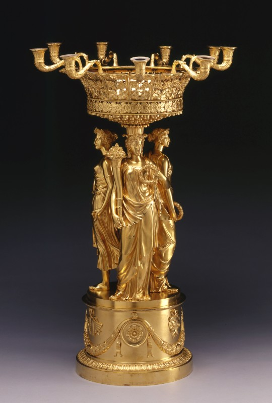 Pierre-Philippe Thomire, An Empire figural centrepiece with detachable nine-light candelabrum by Pierre-Philippe Thomire, Paris, date circa 1810-15