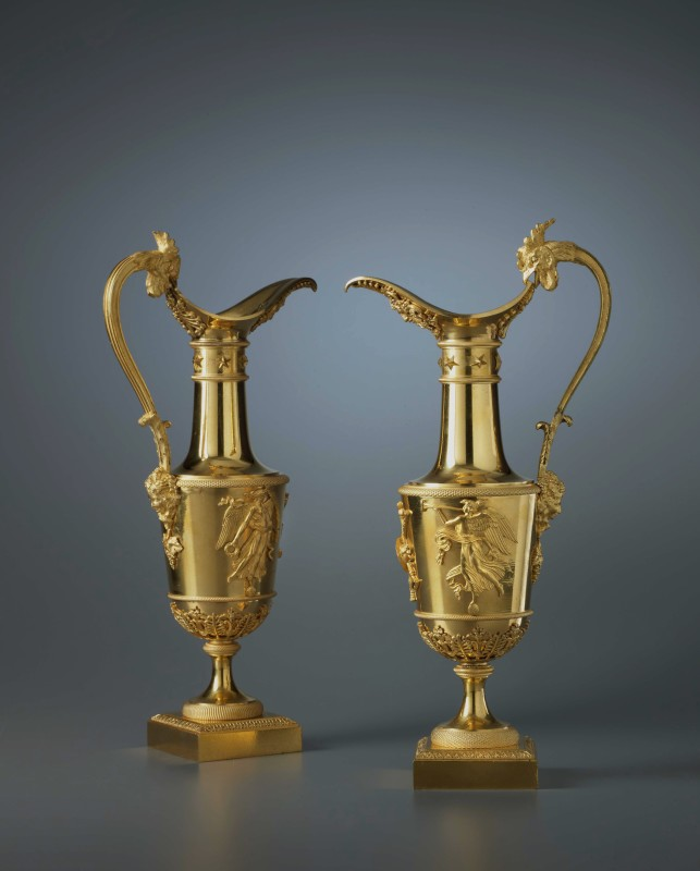 A pair of Empire ewers attributed to Claude Galle, Paris, date circa 1810
