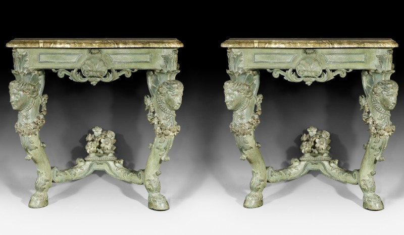 "A pair of consoles ""Aux Bustes de Femme"", late 18th Century"