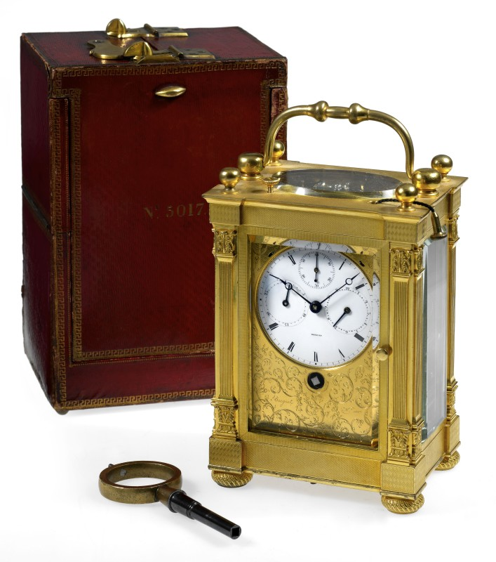 A large grande and petite sonnerie striking carriage clock by Breguet Neveu Compagnie à Paris, Paris, made 1831-32
