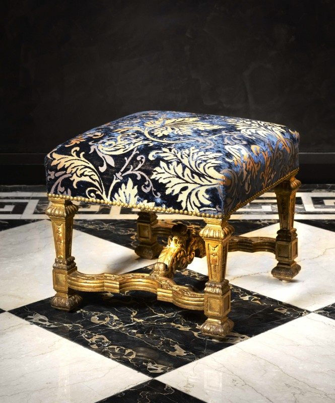A set of four Louis XIV tabourets, Paris, date circa 1710