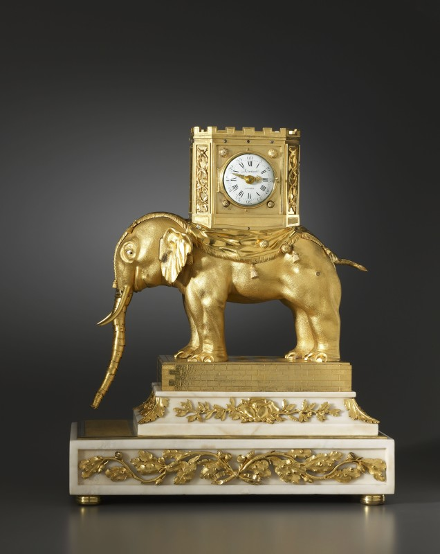 A very important George III automaton elephant clock by Hubert Martinet, London, date circa 1770