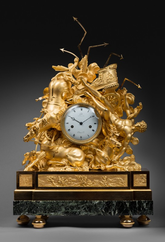 An Empire figural clock representing the fall of Phaeton,by Claude Galle and Nicolas Thomas, Paris, date circa 1805
