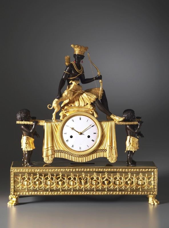 An Empire Pendule 'Au Sauvage' by Jean-Simon Deverberie, Paris, date circa 1800