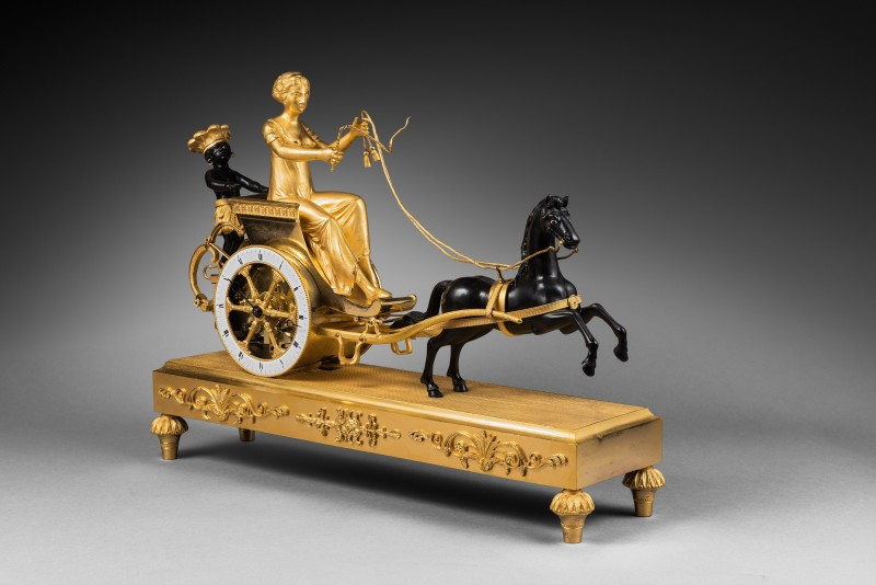 An Empire chariot clock, attributed to Jean-Simon Deverberie, Paris, date circa 1800