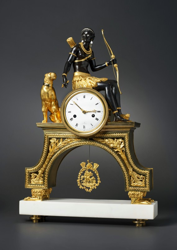 A Directoire Pendule 'À L'Afrique' attributed to Jean-Simon Deverberie, Paris, date circa 1800