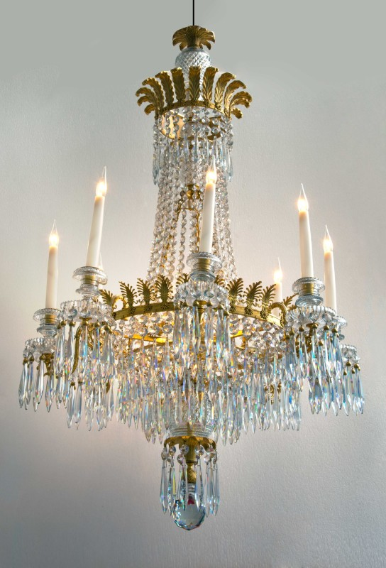 A Regency eight-light chandelier, English, date circa 1810