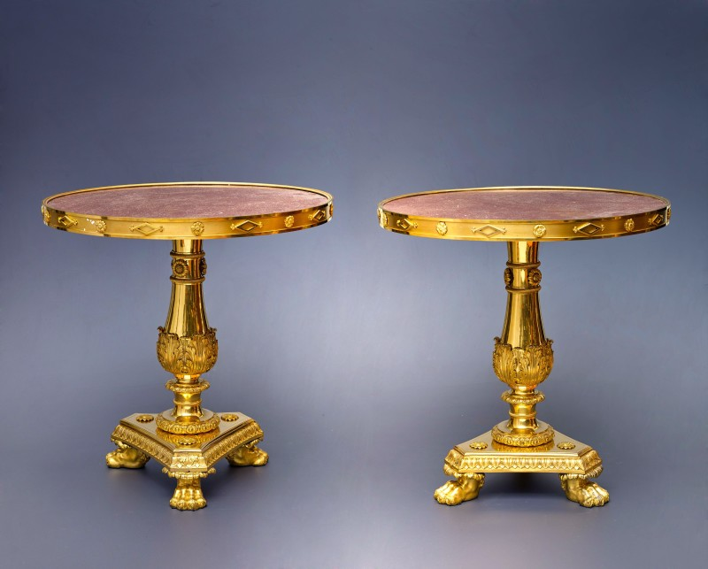 A pair of Restauration guéridons attributed to Pierre-Philippe Thomire, Paris, date circa 1815-20